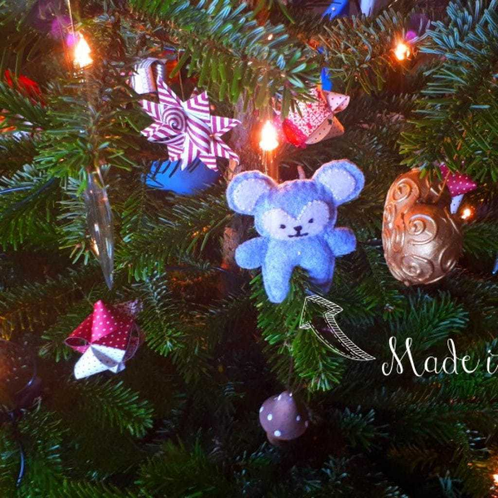 børnevenligt juletræ julepynt