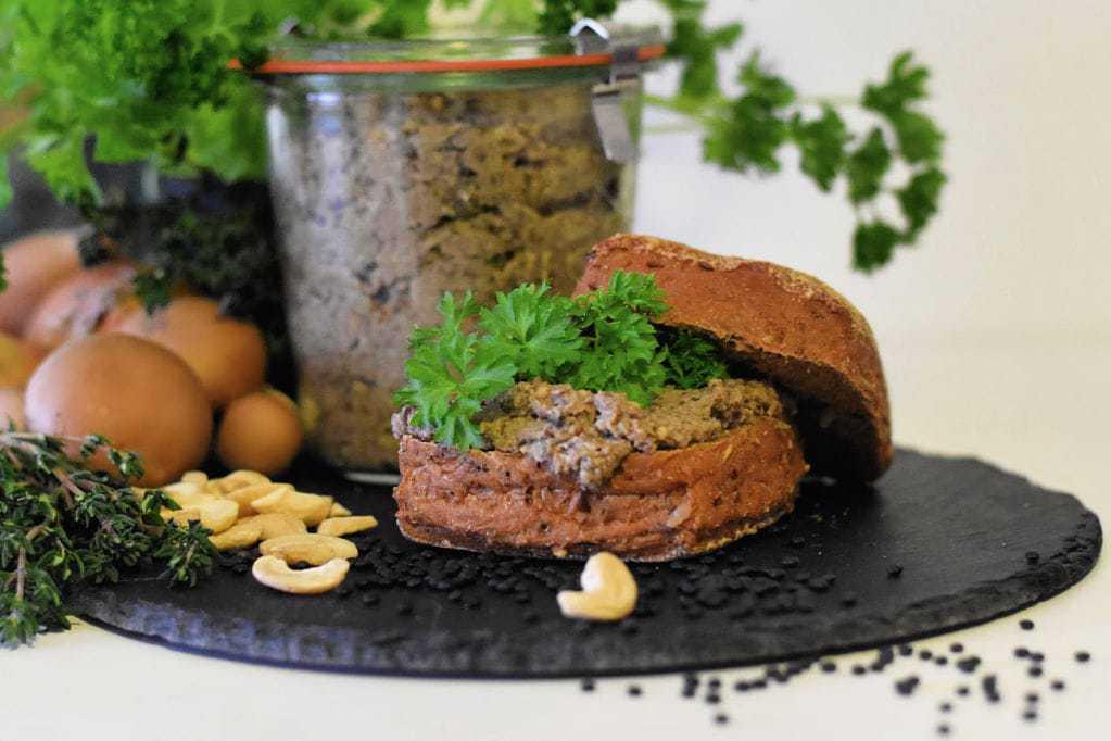 Vegansk og glutenfri svampe spread