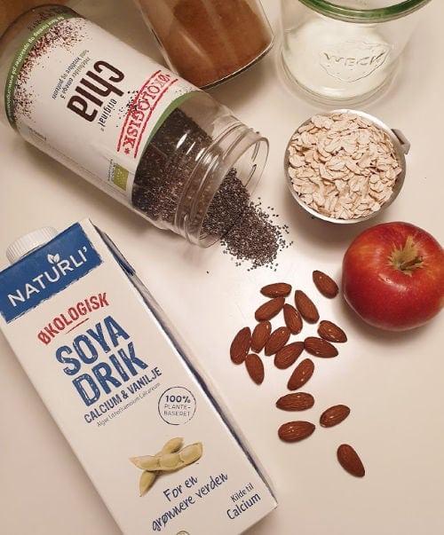 vegansk morgenmad overnight oats