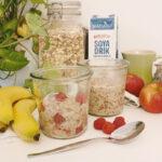 Vegansk morgenmad inspiration bær grød